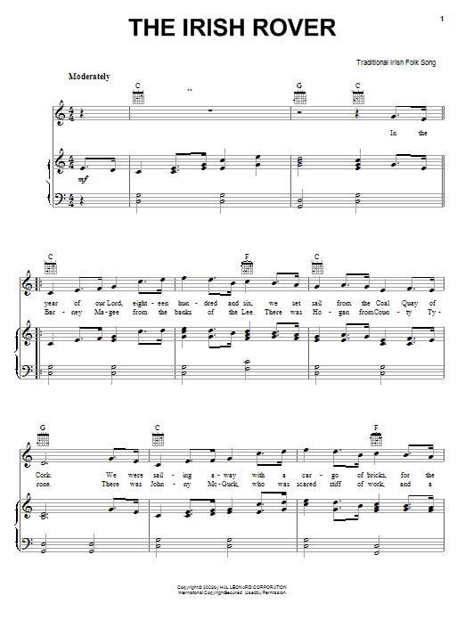 The Irish Rover sheet music