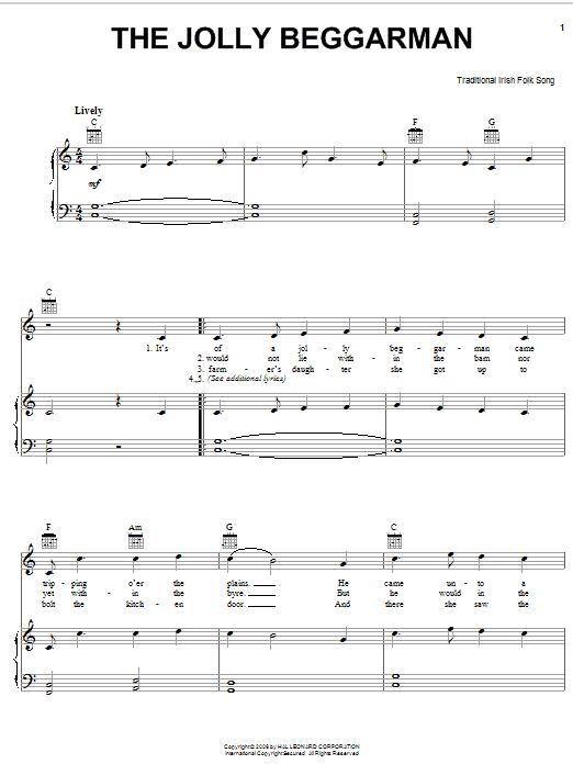 The Jolly Beggarman sheet music