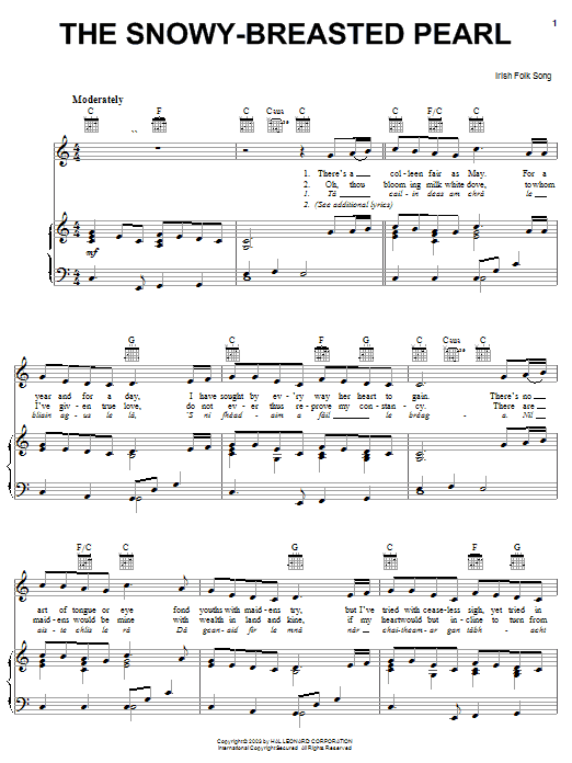 The Snowy-Breasted Pearl sheet music