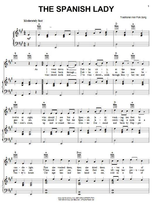 The Spanish Lady sheet music