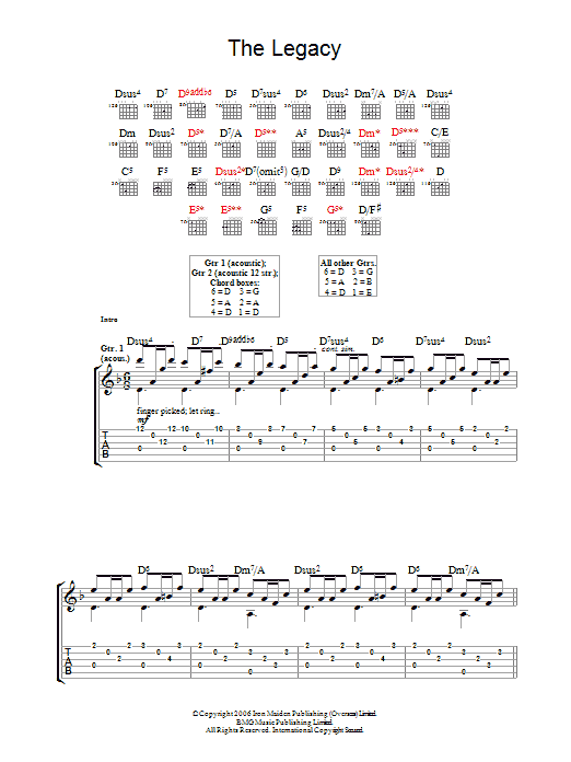 The Legacy sheet music