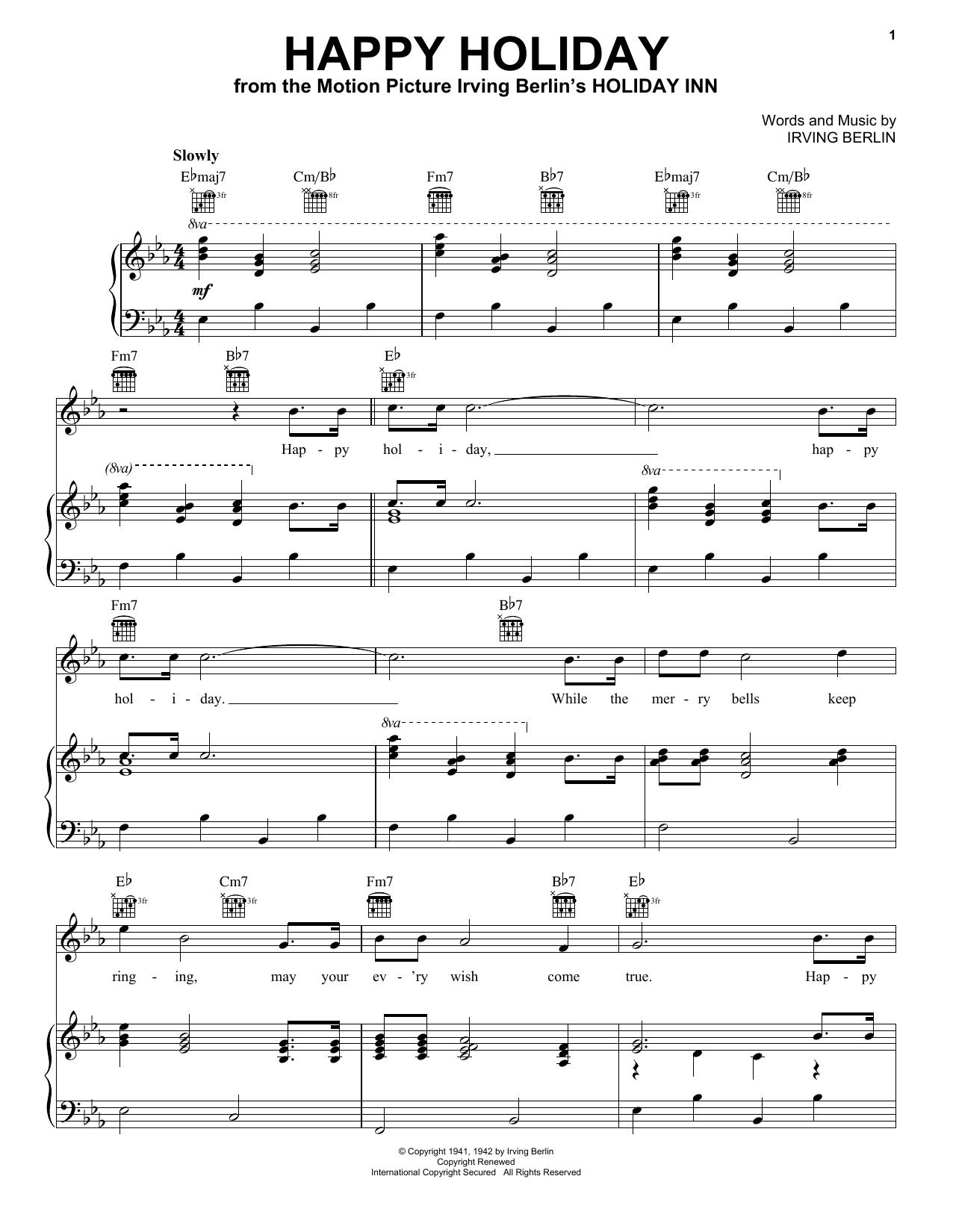 Happy Holiday sheet music