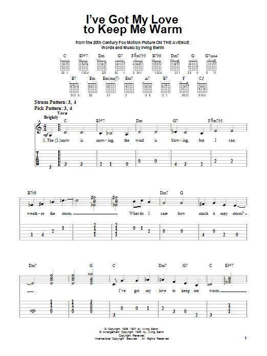 I've Got My Love To Keep Me Warm sheet music