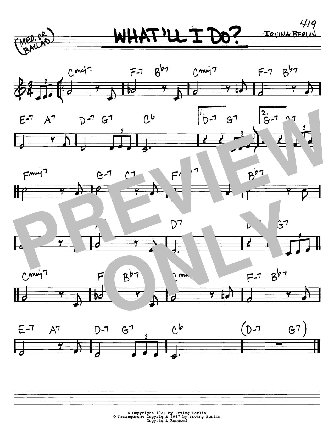 What'll I Do sheet music