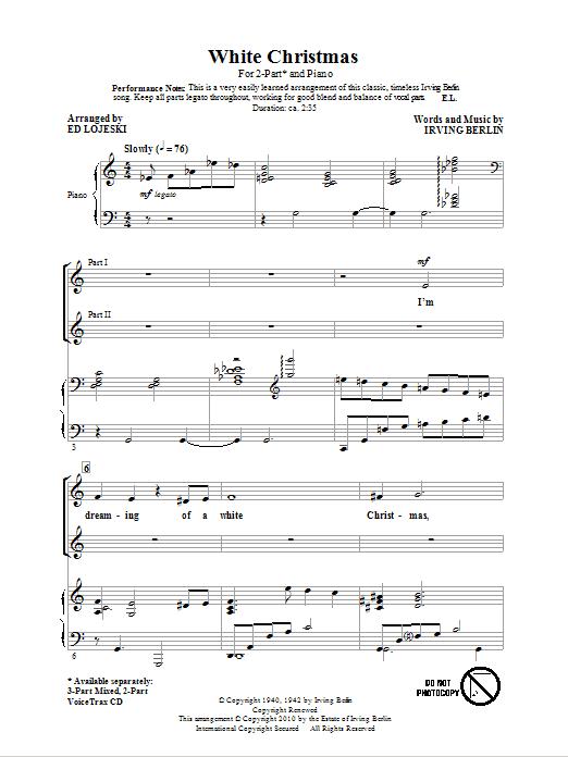 White Christmas (arr. Ed Lojeski) sheet music
