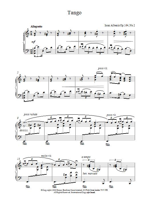 Tango Op. 164 No. 2 sheet music