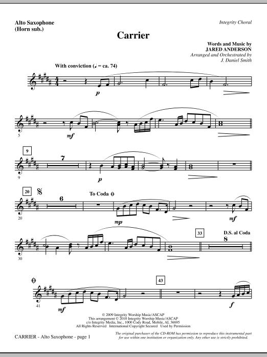 Carrier - Alto Sax (sub. Horn) sheet music
