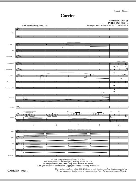 Carrier - Full Score sheet music