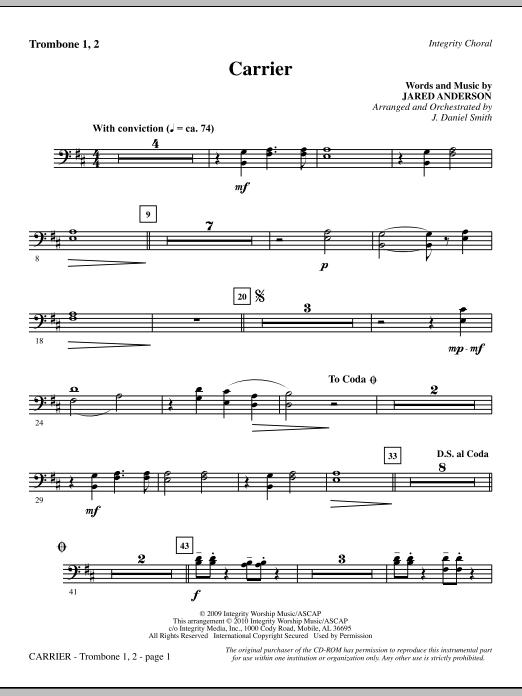 Carrier - Trombone 1 & 2 sheet music