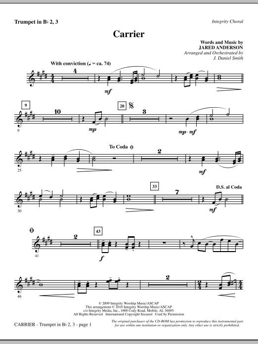Carrier - Trumpet 2 & 3 sheet music