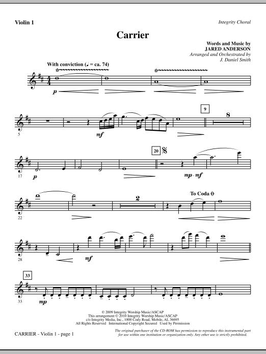 Carrier - Violin 1 sheet music