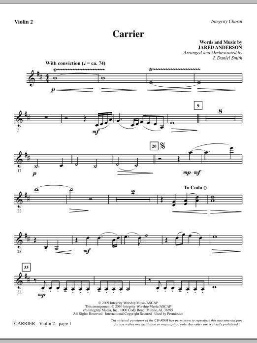 Carrier - Violin 2 sheet music