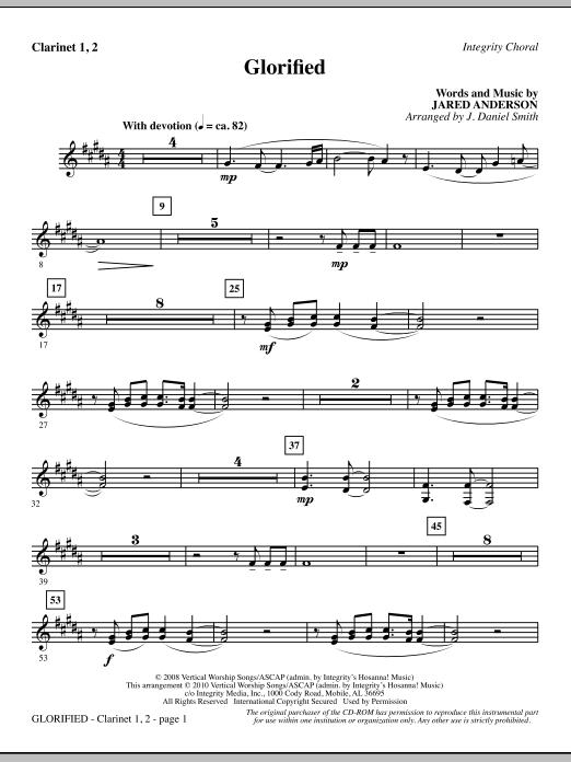 Glorified - Clarinet 1 & 2 sheet music