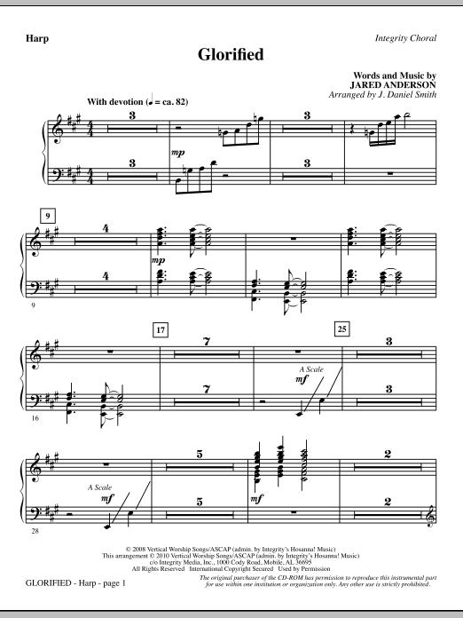 Glorified - Harp sheet music