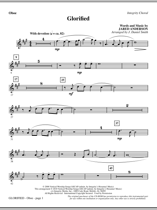 Glorified - Oboe sheet music
