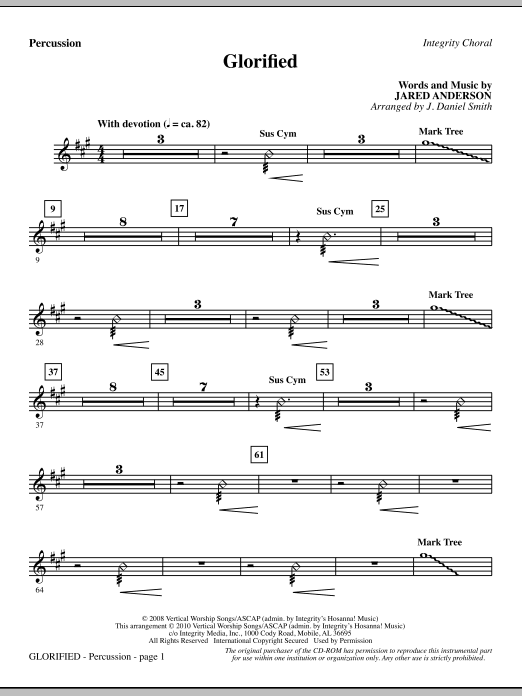 Glorified - Percussion sheet music