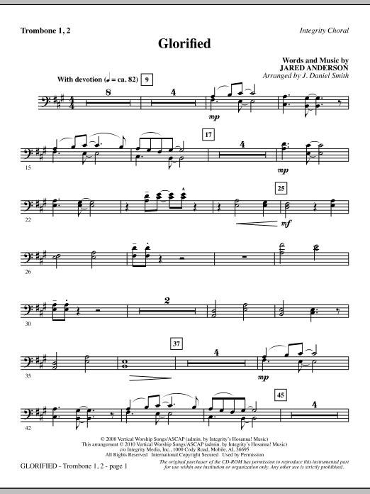 Glorified - Trombone 1 & 2 sheet music