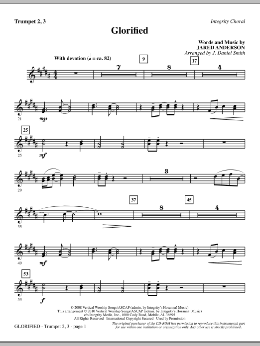 Glorified - Trumpet 2 & 3 sheet music