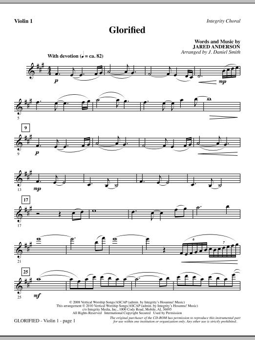 Glorified - Violin 1 sheet music