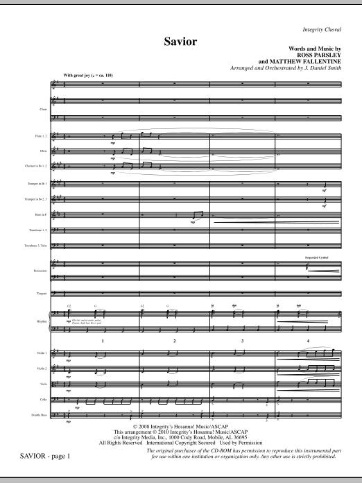 Savior - Full Score sheet music