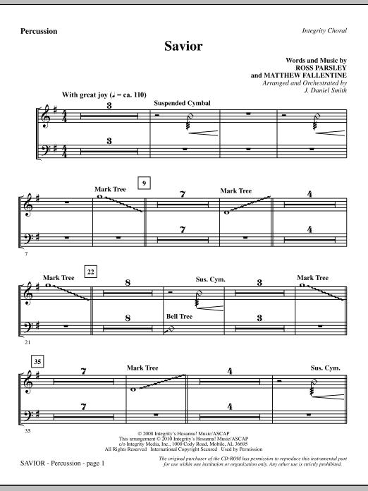 Savior - Percussion sheet music
