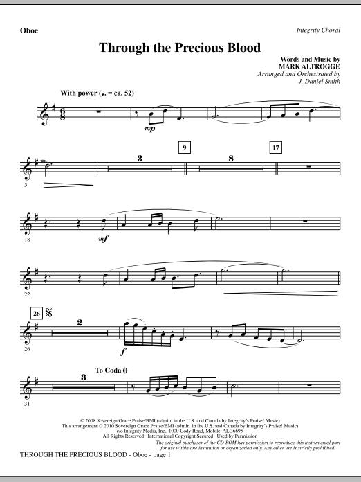 Through The Precious Blood - Oboe sheet music