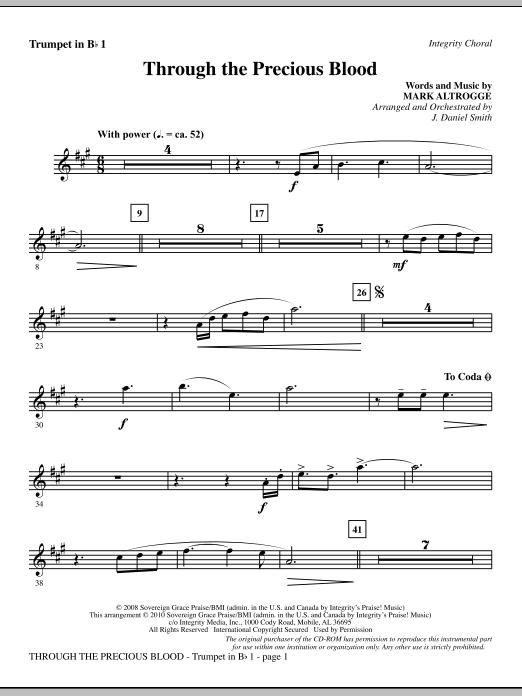 Through The Precious Blood - Trumpet 1 sheet music