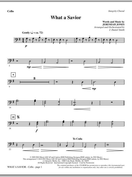 What A Savior - Cello sheet music