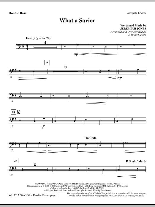 What A Savior - Double Bass sheet music