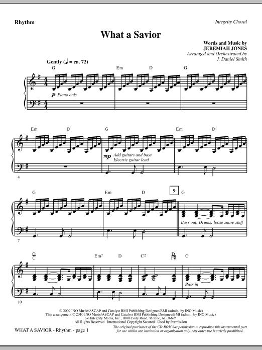 What A Savior - Rhythm sheet music