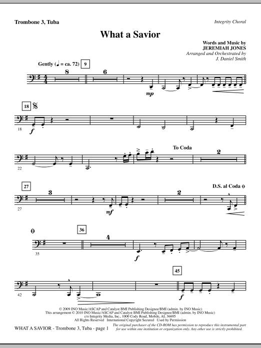 What A Savior - Trombone 3/Tuba sheet music