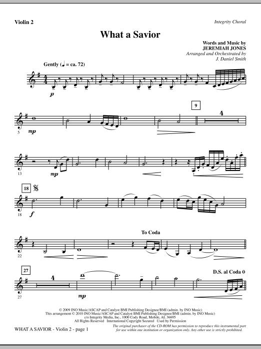 What A Savior - Violin 2 sheet music