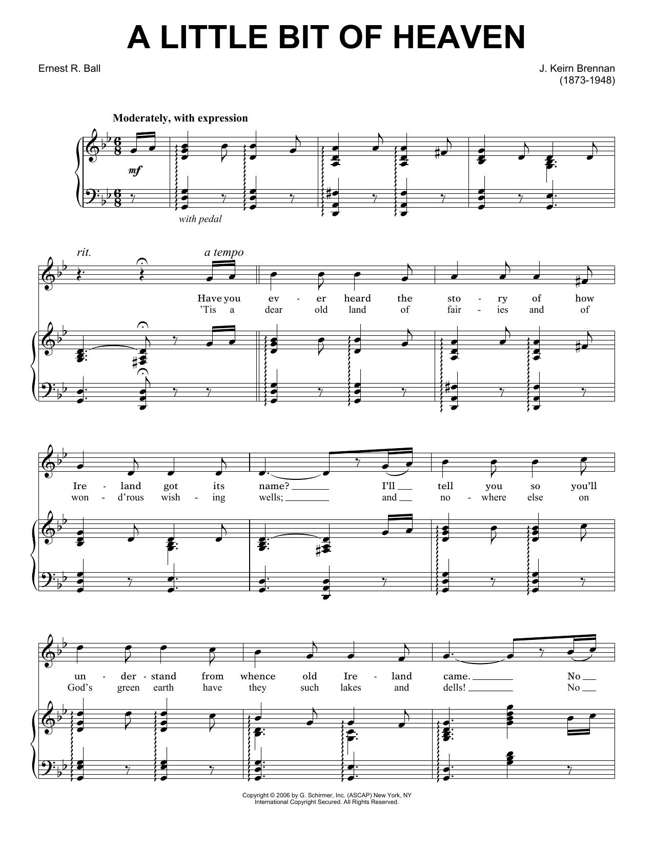A Little Bit Of Heaven sheet music