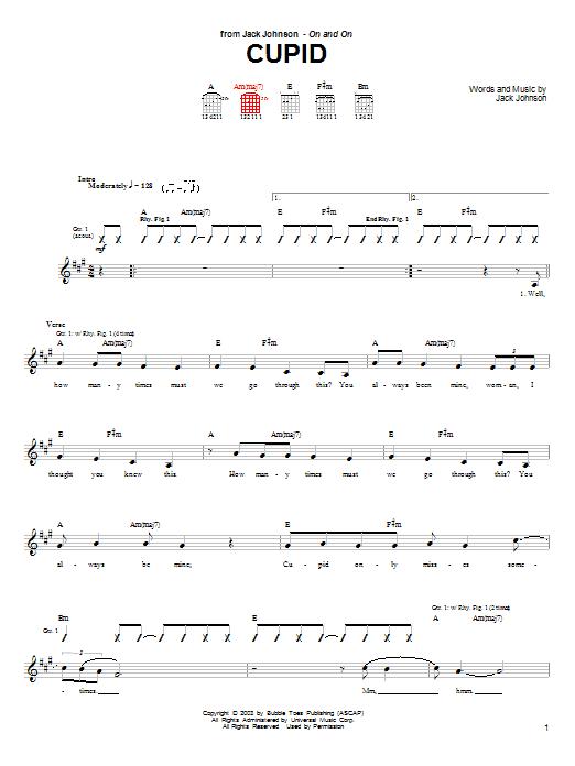 Cupid sheet music