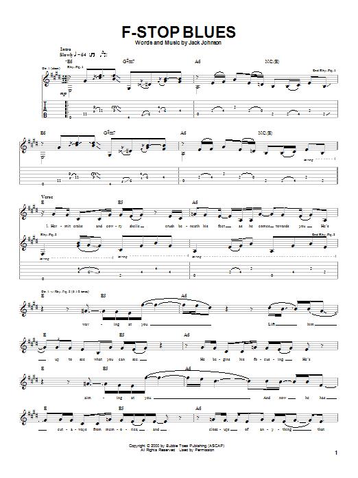 F-Stop Blues sheet music