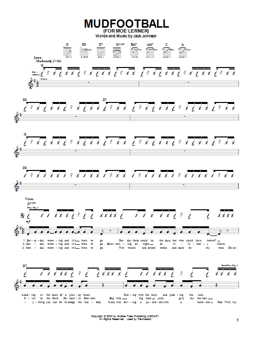 Mudfootball (For Moe Lerner) sheet music