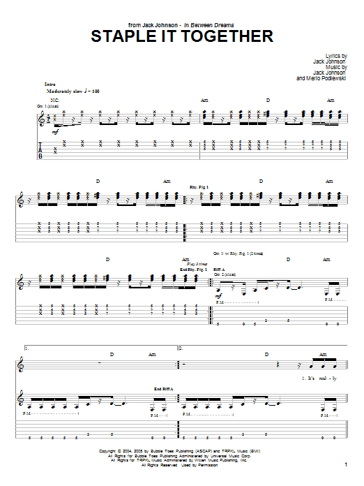 Staple It Together sheet music