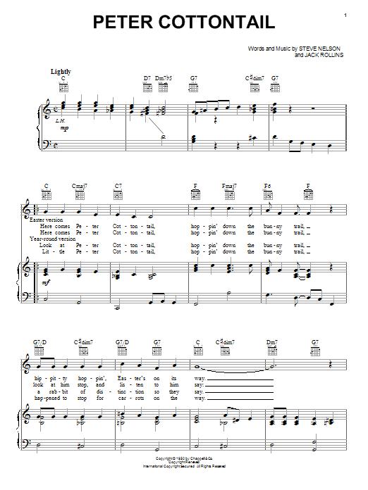 Jack Rollins Peter Cottontail Sheet Music Download Pdf Score 80673