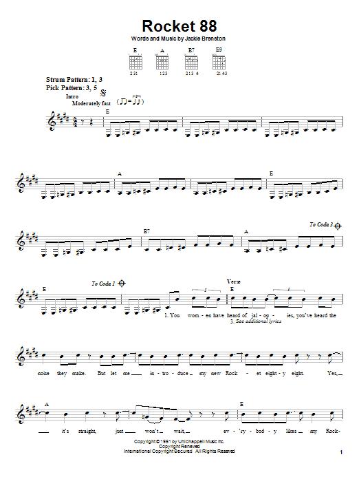 Rocket 88 sheet music