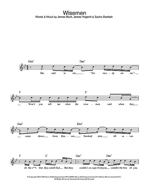 Wisemen sheet music