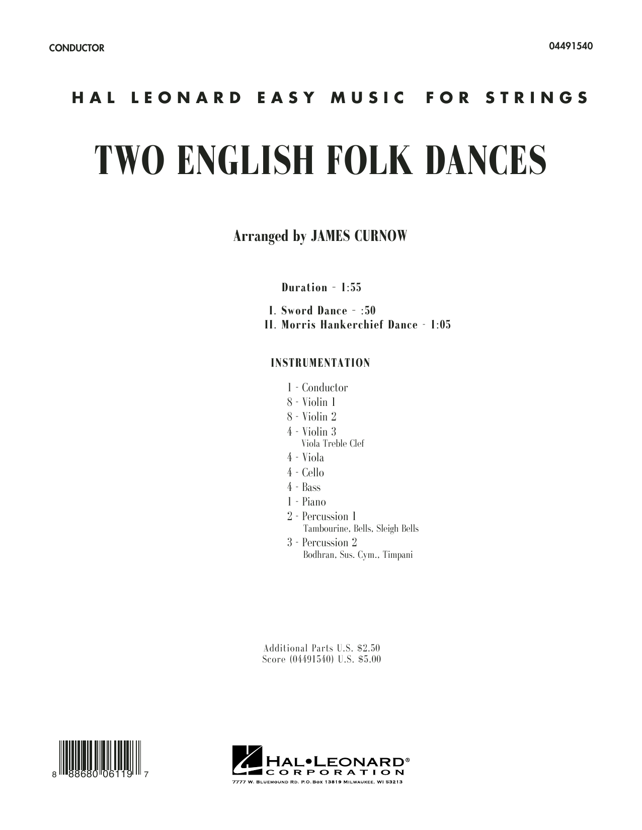 Two English Folk Dances - Conductor Score (Full Score) sheet music