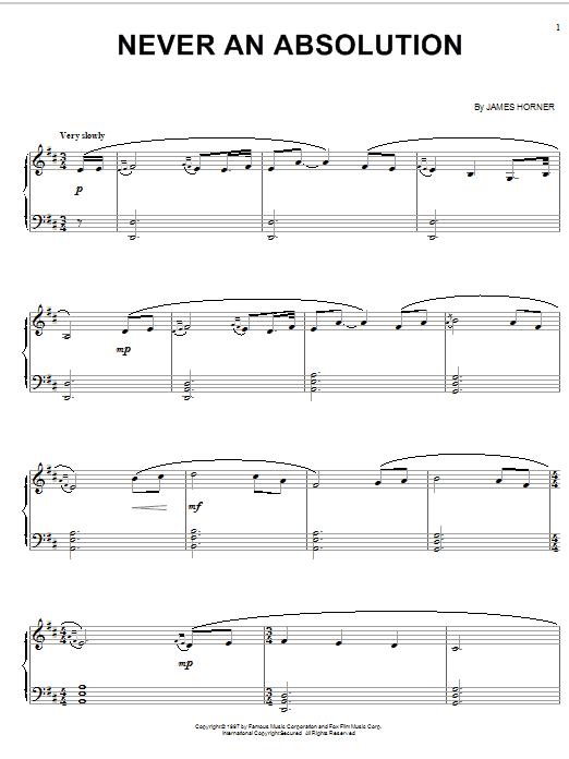 Never An Absolution sheet music