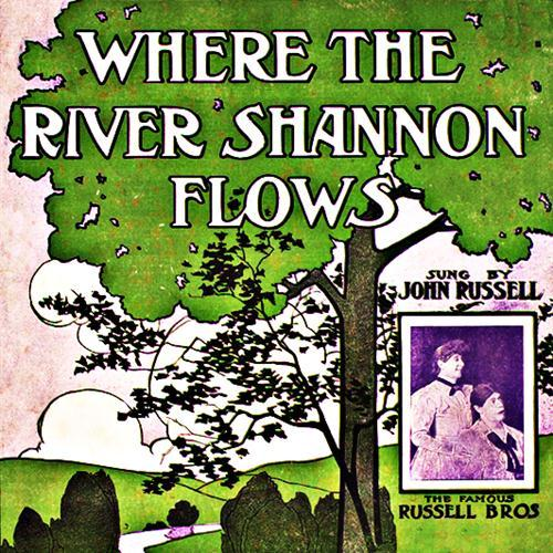 James J. Russell, Where The River Shannon Flows, Melody Line, Lyrics & Chords