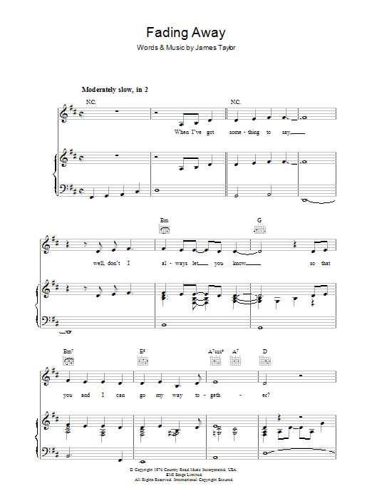 Fading Away sheet music