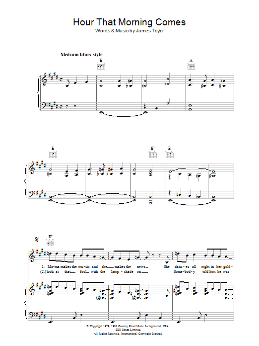 Hour That Morning Comes sheet music