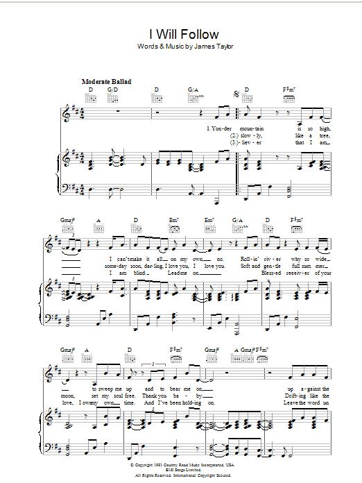 I Will Follow sheet music