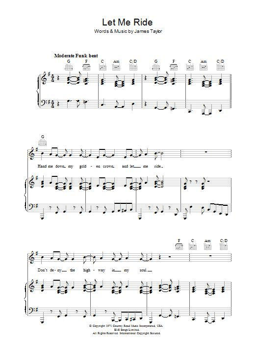 Let Me Ride sheet music