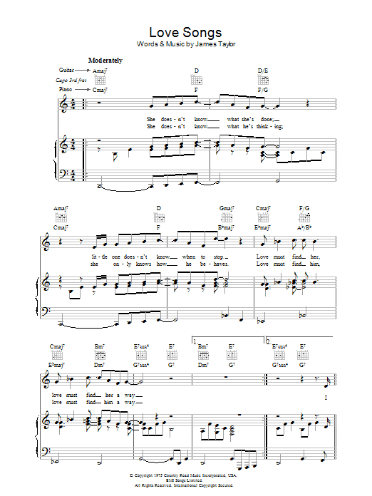 Love Songs sheet music