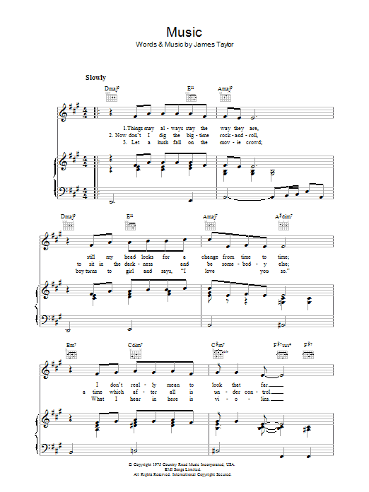 Music sheet music