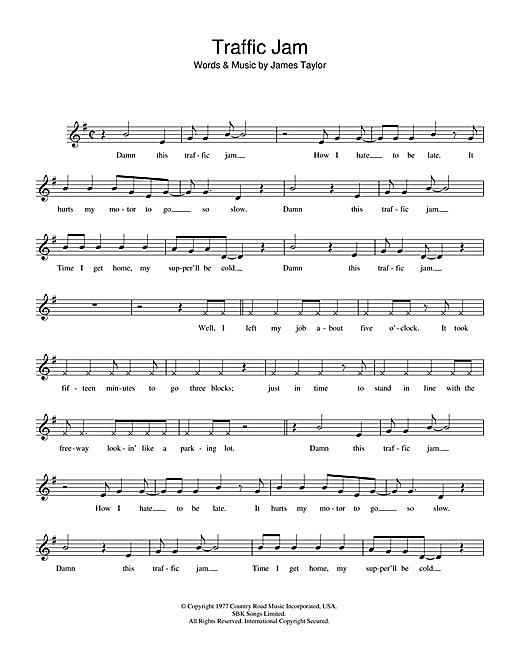 Traffic Jam sheet music